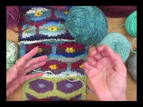 2-Color Stranded Knitting - Persian Poppy - YouTube
