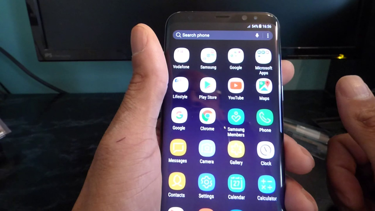 Samsung Galaxy S8 Plus Pre Installed Apps Youtube