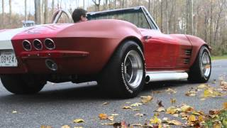 64 Corvette Stingray burnout - vanishes in a cloud of smoke