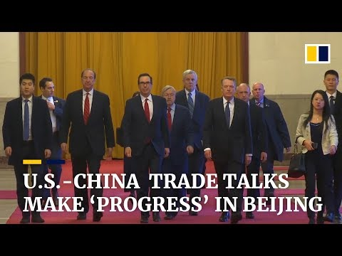 US-China trade talks make 'progress' in Beijing