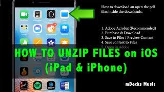 How to unzip files on iOS (iPhone & iPad)