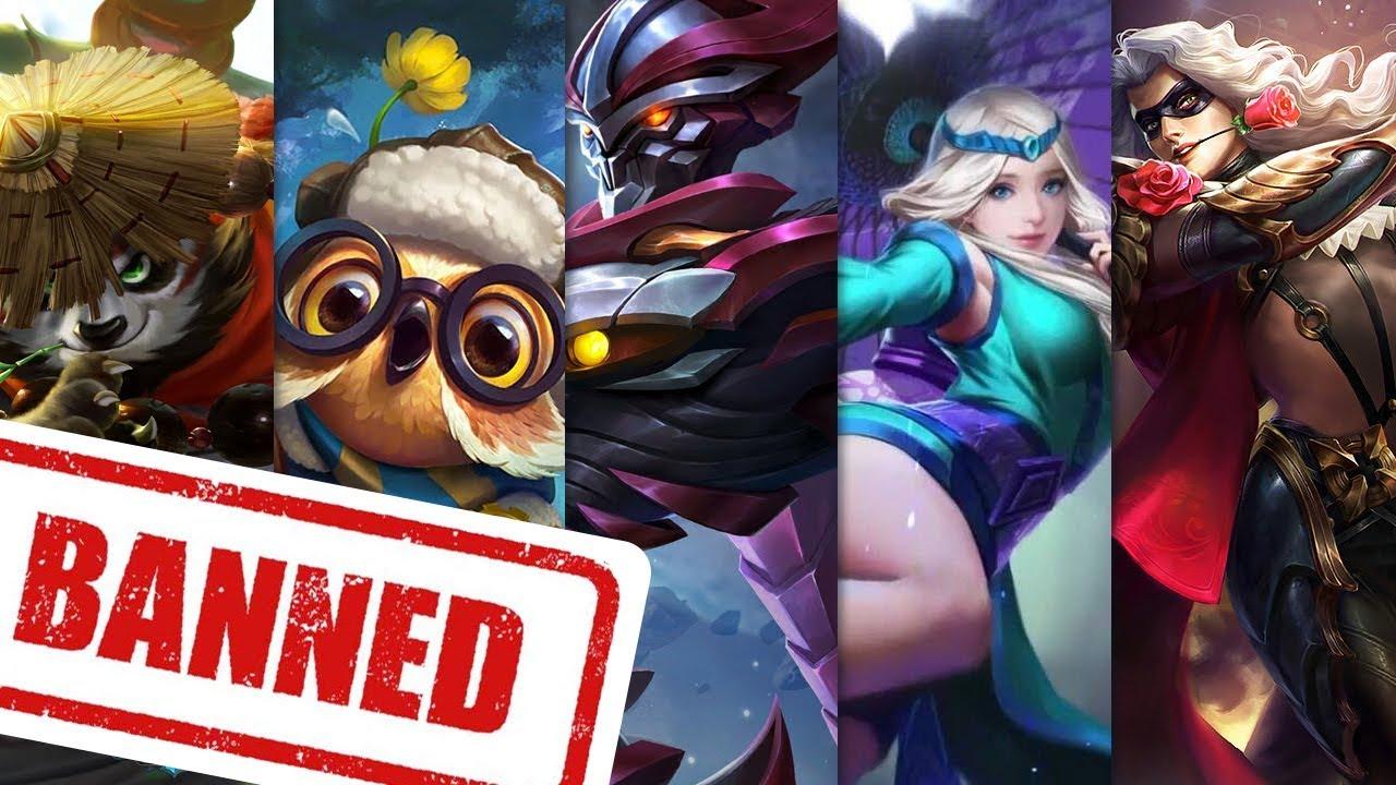 5 Hero Mobile Legends Paling Sering Dibanned Di Ranked Mode