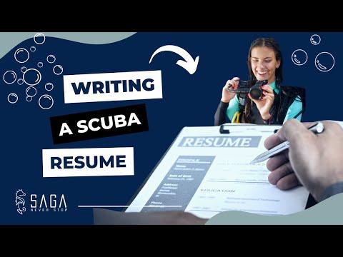 How To Write A SCUBA Resume