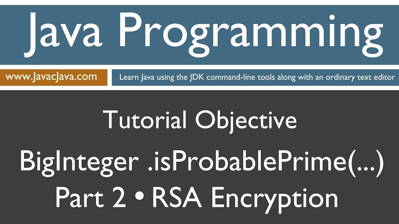 Learn java programming biginteger probableprime part 2 rsa learn java programming biginteger probableprime part 2 rsa concepts tutorial baditri Gallery