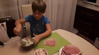 Шашлык из свинины.  Сочные рулеты на мангале