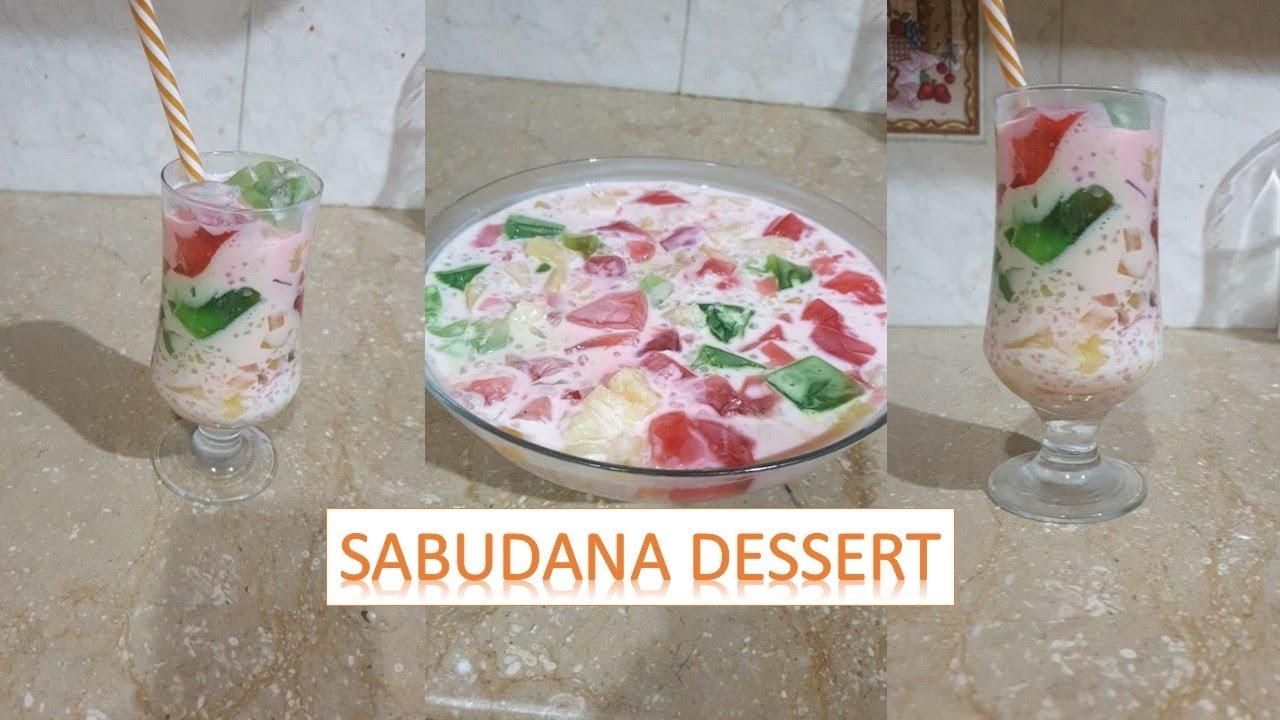 Sabudana dessert | cocktail Recipe | Tasty Meals With Hamdani