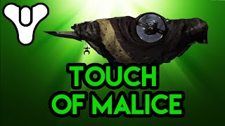 Destiny lore Touch of Malice