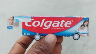 How to make a toy bus From Colgate at Home | DIY Toy