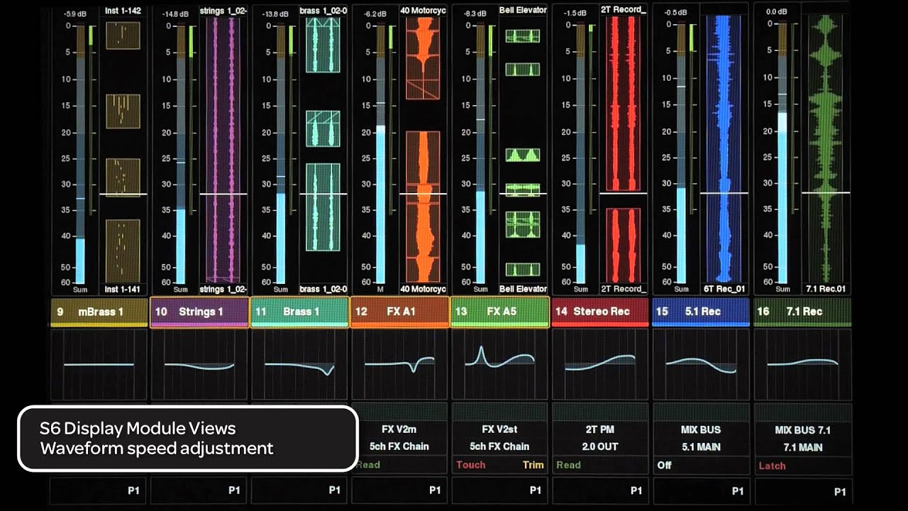 6 get started fast with avid pro tools s6 display module views youtube. Black Bedroom Furniture Sets. Home Design Ideas