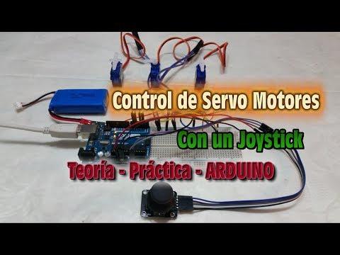 Control de Servo Motores con un Joystick - Teoria - Practica - Arduino