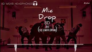 [8D] BTS - MIC Drop (Steve Aoki Remix - Full Length Edition)【WEAR HEADPHONES🎧🎶🔊】{download link}