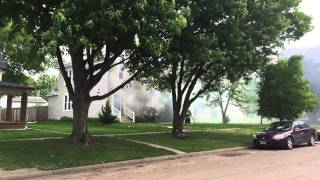 Came outside this morning and saw my neighbors house on fire!