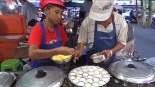 Khanom Krok, DESSERT IN THAILAND, COCONUT PUDDING, Street Food in Thailand, Krabi Street Food 2016