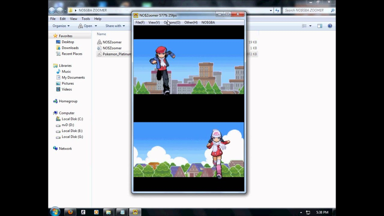 How to get no$gba emulator + no$zoomer + pokemon heartgold english.