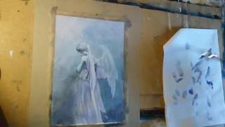 Painting a Weeping Angel