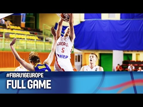 Croatia v Sweden - Full Game - R 16 - FIBA U16 European Championship 2016