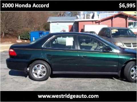 2000 honda accord used cars asheville nc youtube. Black Bedroom Furniture Sets. Home Design Ideas