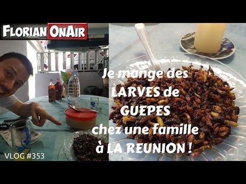 Je mange des LARVES DE GUEPES chez une famille à LA REUNION - VLOG #353
