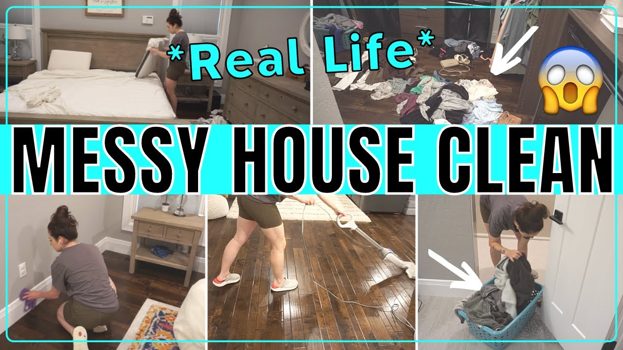 *MESSY HOUSE* EXTREME CLEAN WITH ME | SUMMER CLEANING MOTIVATION | SPEED CLEANING ROUTINE