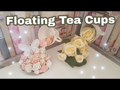 Christmas Floating Tea Cups.How To Make Floating Tea Cups