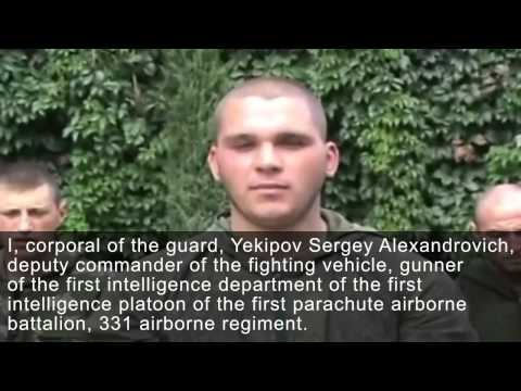 Statement by Russian paratroopers, who were taken prisoner in the eastern Ukraine