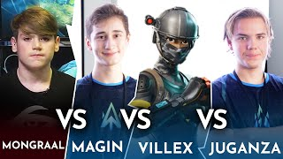 Secret Mongraal vs Atlantis Magin vs Atlantis Villex vs Atlantis Juganza - Playground Caviar