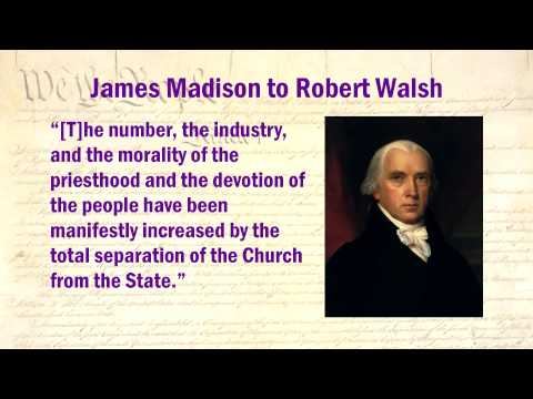 Constitution Lecture 9: Separation of Church and State