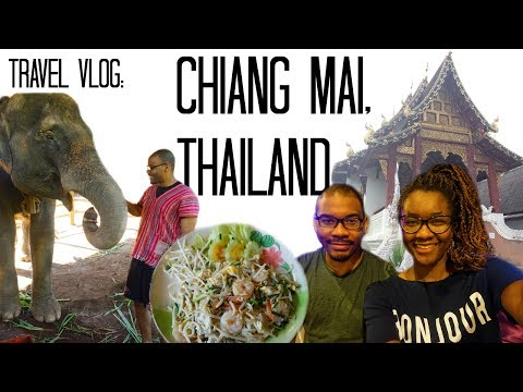 Chiang Mai, Thailand Vlog: Elephants, Night Markets, Jewelry Class | Black Couple Travel