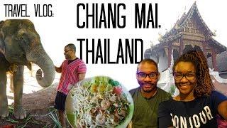 Chiang Mai, Thailand Vlog: Elephants, Night Markets, Jewelry Class | Black Couple Travel