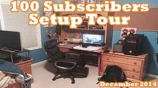 Ultimate Gaming Setup Tour (December 2014) - Thanks for 100 Subs!