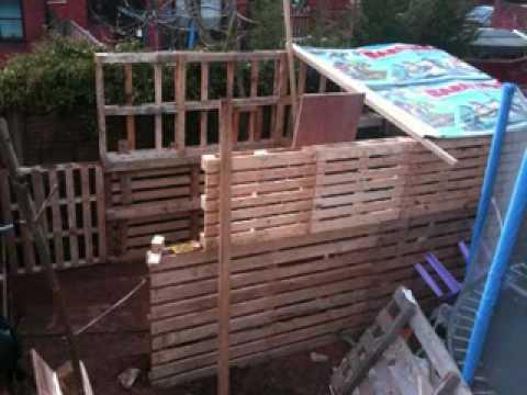 The pallet workshop (shed) - YouTube