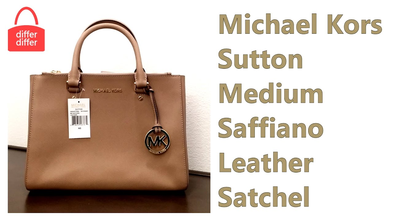 11ce2e3b807e16 Michael Kors Sutton Medium Saffiano Leather Satchel 30S4GTVS6L - YouTube