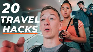 20 MOST OVERLOOKED Flight/Airport Hacks  BEST Flight Ever 2020