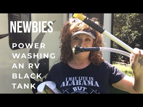 NEWBIES Power Washing An RV Black Tank