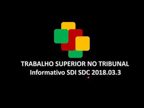 Informativo TST SDI SDC 2018.03.3