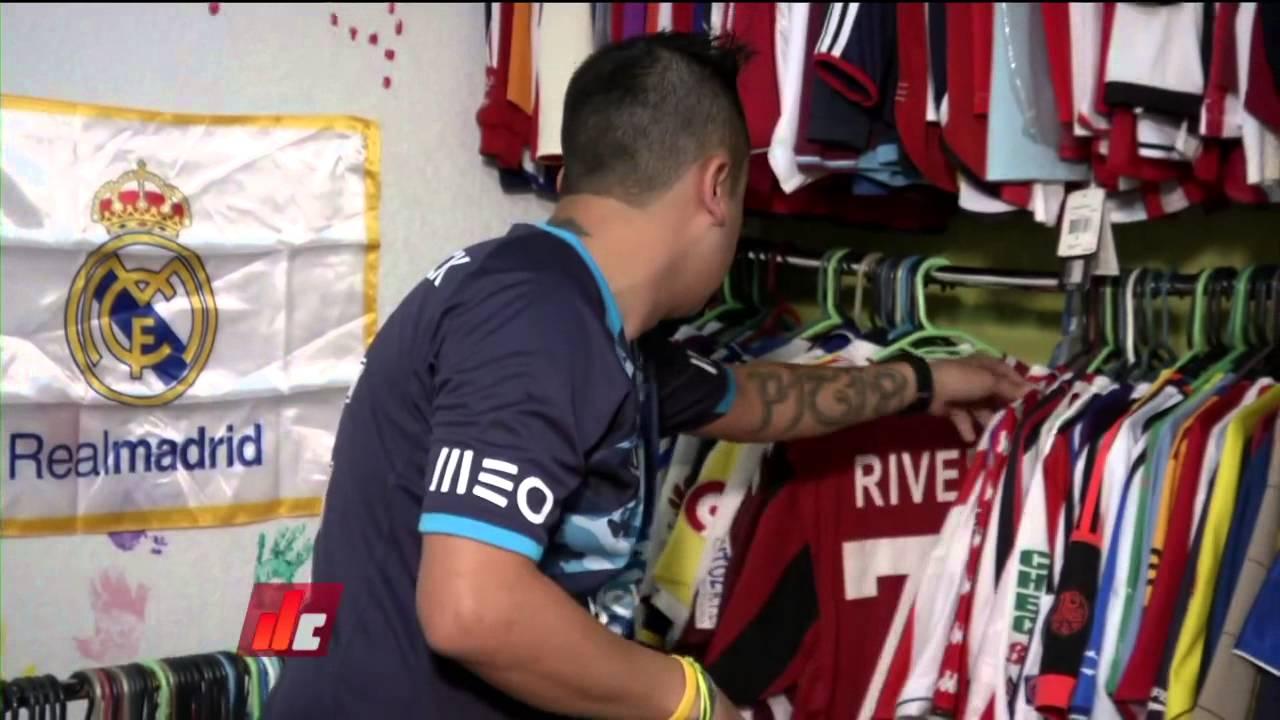 Colección de más de 200 camisetas de futbolistas mexicanos - YouTube 9e48fe659b947
