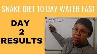 Snake Diet Results -Water Fasting Tips - Weight Loss Day 24