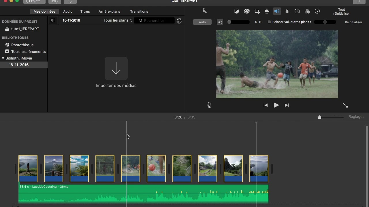 arriere plan imovie