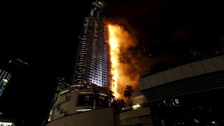Dubai Fire Address Hotel - Dubai Hotel On Fire Before New Years Eve Fireworks - 2015