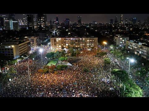 مظاهرات حاشدة بمشاركة آلاف الإسرائيليين احتجاجا على تعامل الحكومة مع تداعيات أزمة كورونا  - 10:58-2020 / 7 / 12