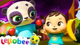Apples & Bananas Song! | Lellobee: Nursery Rhymes & Baby Songs | Learning Videos For Kids