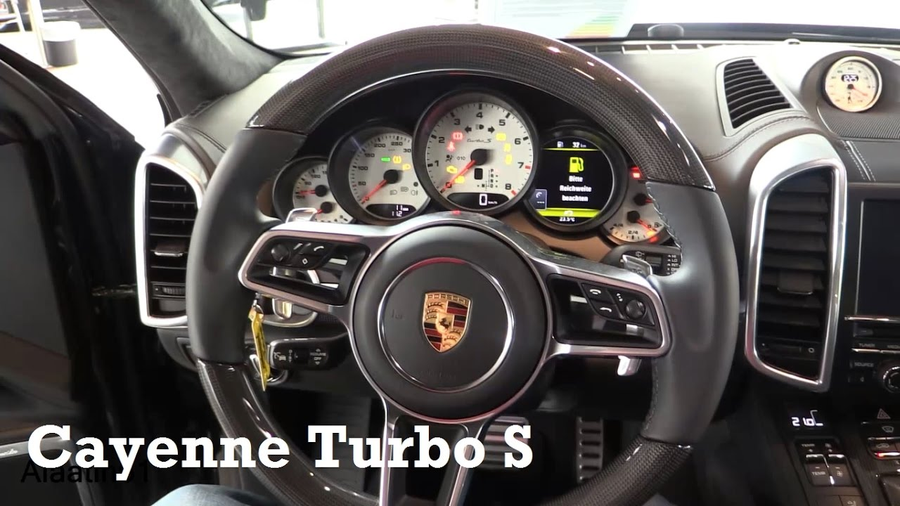2017 porsche cayenne turbo s interior review youtube