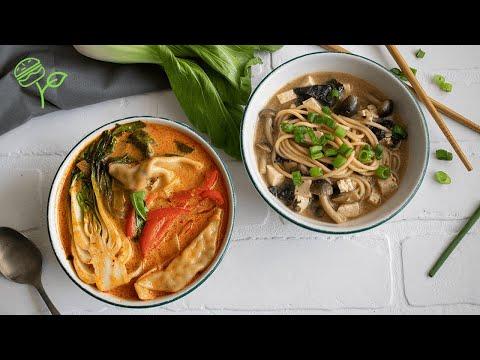Two 10 Minute Asian Inspired Soups | Easy + Vegan