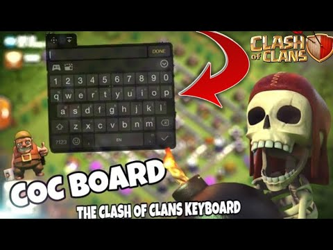 COC BOARD (THE CHATTING KEYBOARD FOR CLASH OF CLANS) SPECIAL KEYBOARD FOR COC
