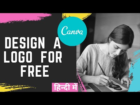 How to Design a Logo for FREE Online | Canva Logo Design Tutorial in Hindi thumbnail