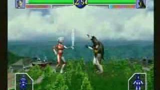 Sega Saturn : Ultraman / ウルトラマン 光の巨人伝説 - Gameplay (short)