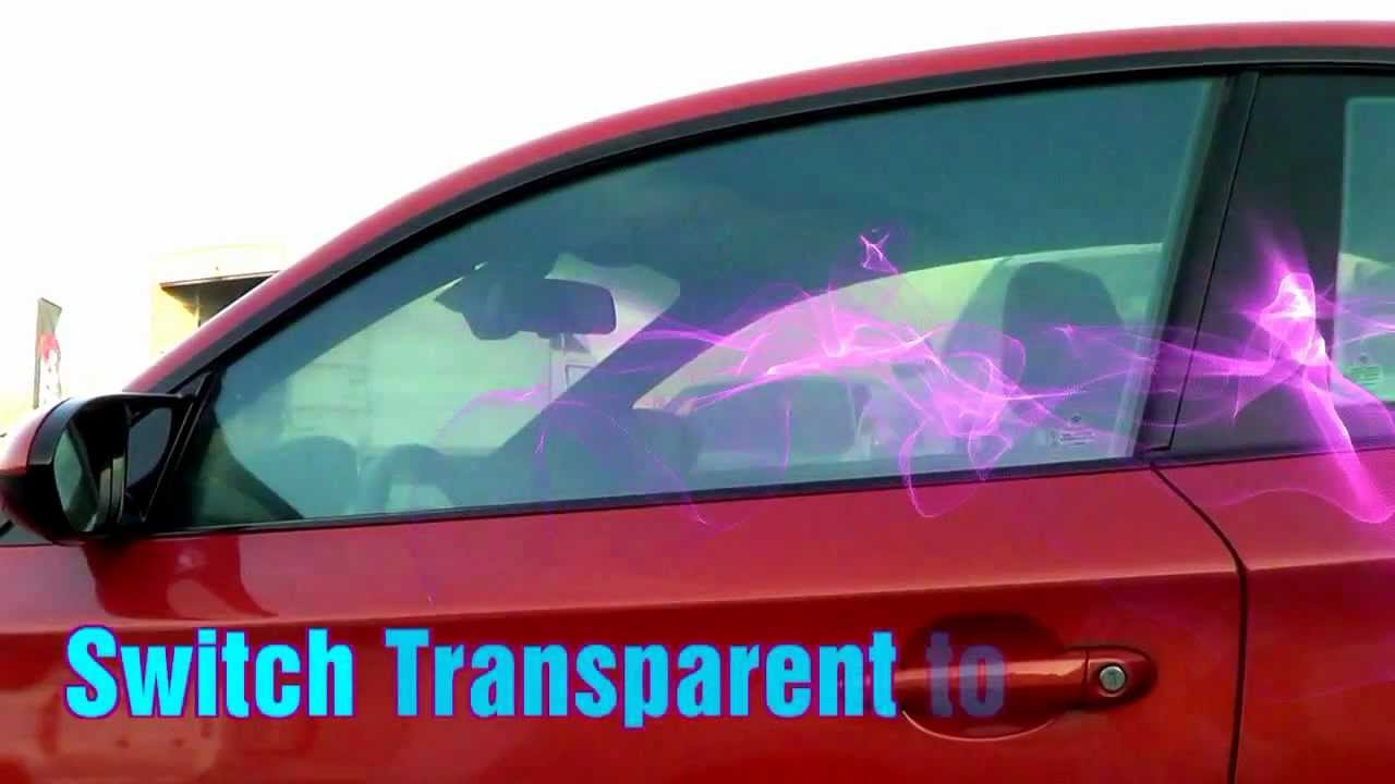 Auto Window Shades >> SDS Electric Switchable Car Tint - YouTube
