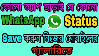 How To Save Or Download WhatsApp Status Pictures and Videos 2029