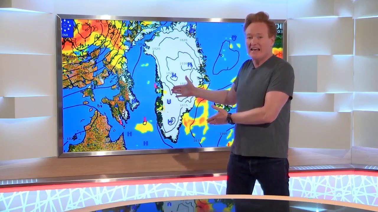 knr.gl: Conan O'Brien præsenterer vejrudsigt
