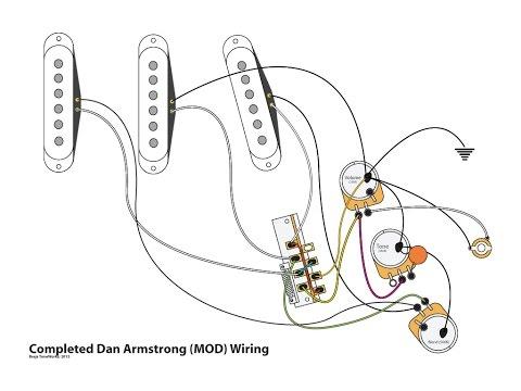 Dan Armstrong Super Strat Guitar Wiring Demo